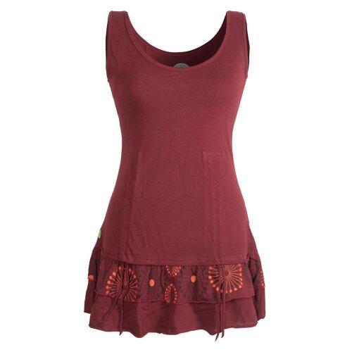 Vishes - Damen Lagen-Look Jersey-Tunika Shirt aus Baumwolle zum Raffen