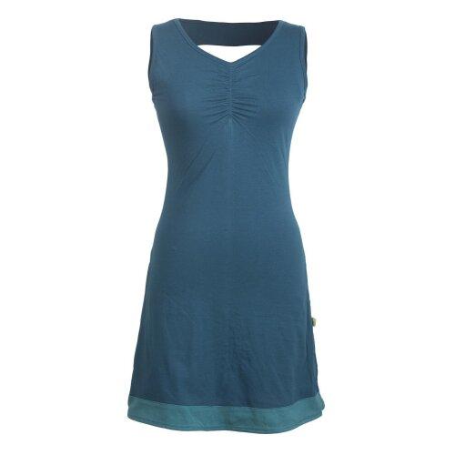 Vishes Ärmelloses Damen Kleid aus Bio-Baumwolle - Rückenausschnitt geflochten