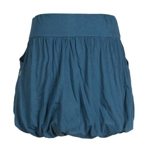 Vishes Einfarbiger Damen Basic Pluder-Rock Ballonrock Biobaumwolle Taschen
