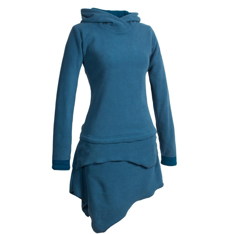 vishes asymmetrisches langarm winter-kleid kapuzen-kleid