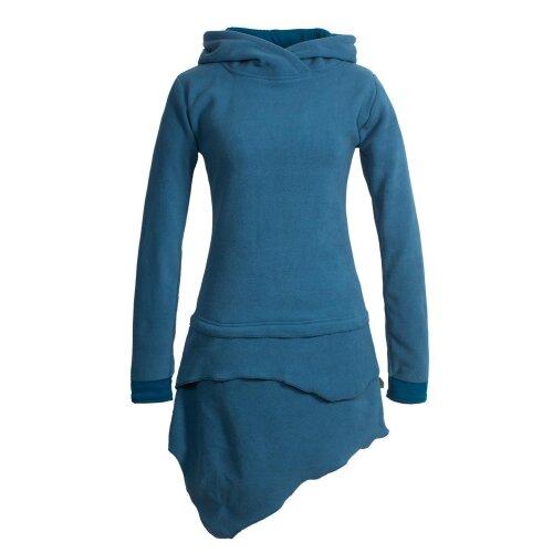 Vishes Asymmetrisches Langarm Winter-Kleid Kapuzen-Kleid ...