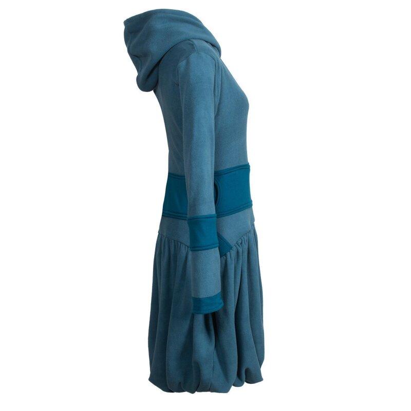 Vishes Langarm Damen Winter-Kleid Ballonkleid Kapuzen ...