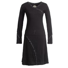 Vishes Langarm Damen Jerseykleid Strickkleid...