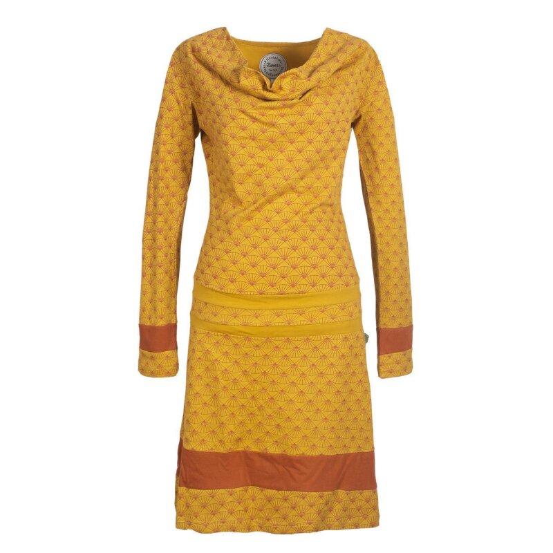 Vishes Langarm Damen Tunika Kleid Jerseykleid Bedruckt mit ...
