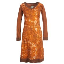 Vishes - Langarm Damen Tie-Dye Batik-Kleid Winter-Kleid...