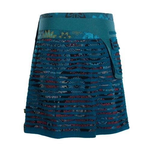 Vishes - Wickelrock Rock zum Wickeln Druckknöpfe Cutwork Blumen Mandala Sidebag