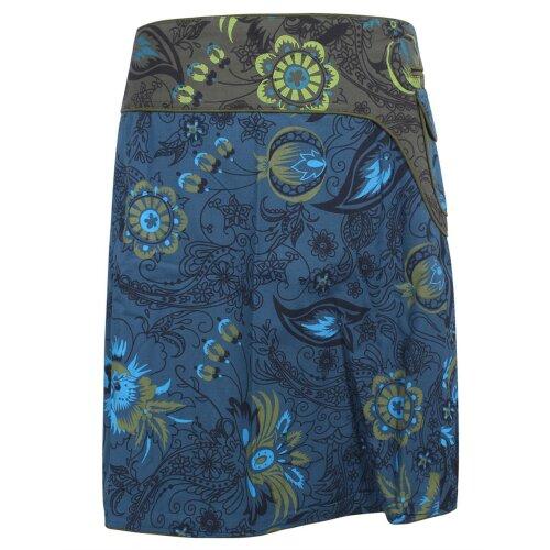 Vishes Wickelrock Rock zum Wickeln Druckknöpfe Cutwork Blumen Mandala Sidebag