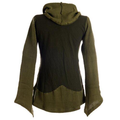 Vishes Damen Pullover aus Baumwolle mit Schalkragen