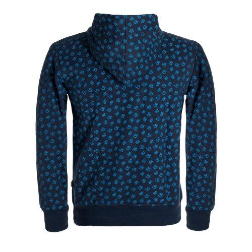 Vishes - Herren Baumwoll-Hoodie Sweater mit Kanguru-Tasche und Om-Druck