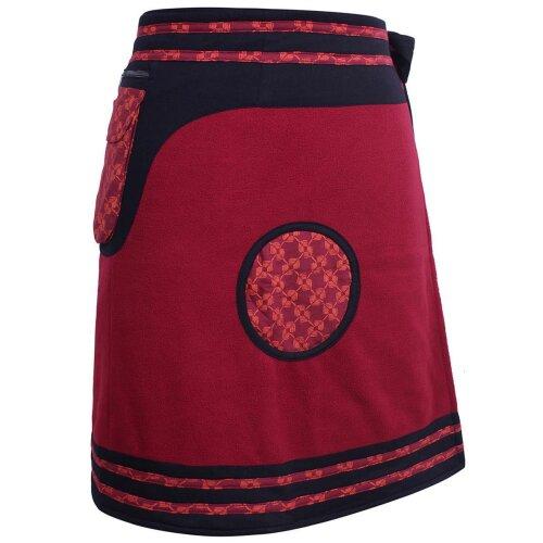 Vishes Damen Winterrock zum Wickeln aus Fleece mit Gürteltasche