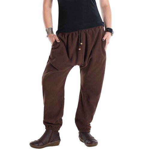 Vishes - Warme Unisex Thermo Haremshose aus Fleece mit Tasche