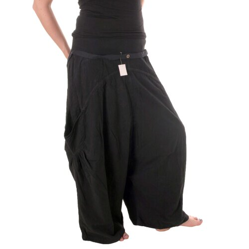 Vishes Bequeme, lange Baggy Hose aus Baumwolle