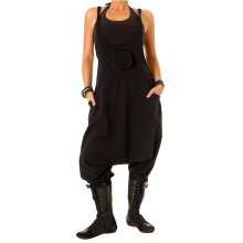 Vishes Warme Damen Fleece Thermo Latzhose Haremshose