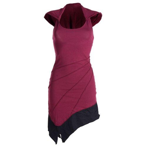 Vishes Mini Kleid Goa Neckholder Kleid zweifarbig Zipfelkleid