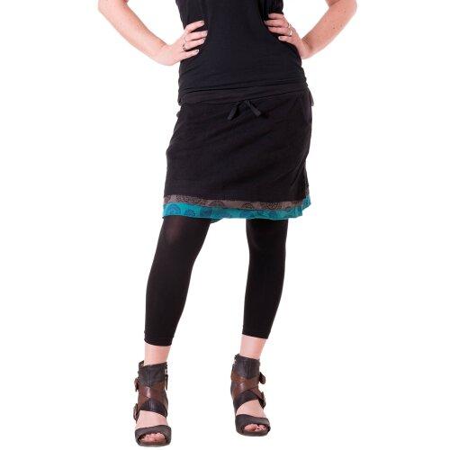 Vishes Kurzer Lagenlook Rock aus Baumwolle - mit Taschen zum Binden