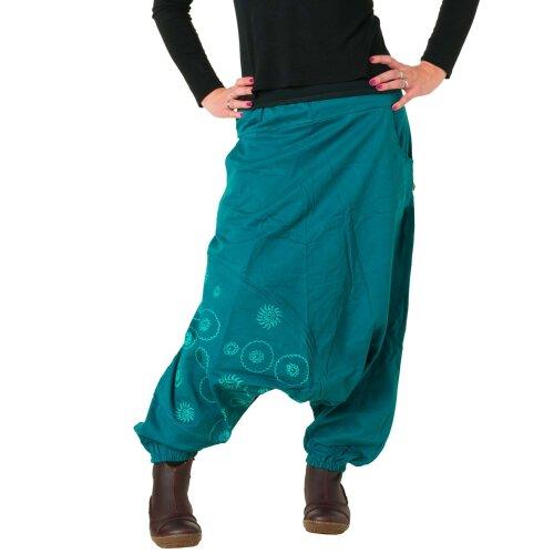 Vishes Hose Haremshose warm bestickt Goa Hose